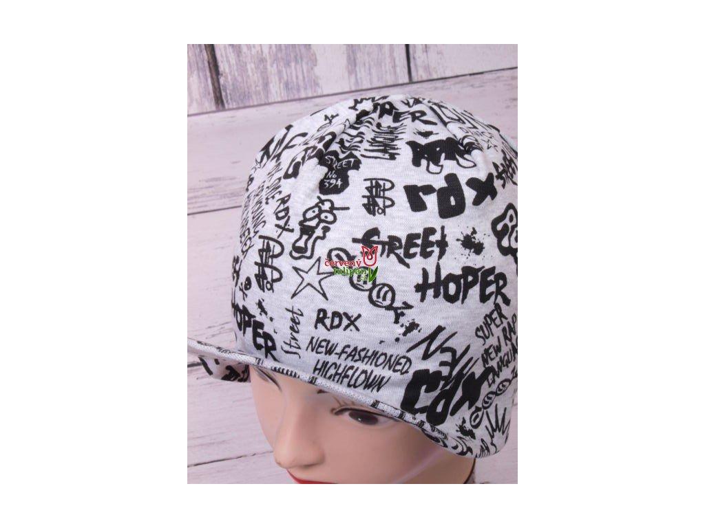 Čepice RDX 1064 sv. šedá s kšiltem
