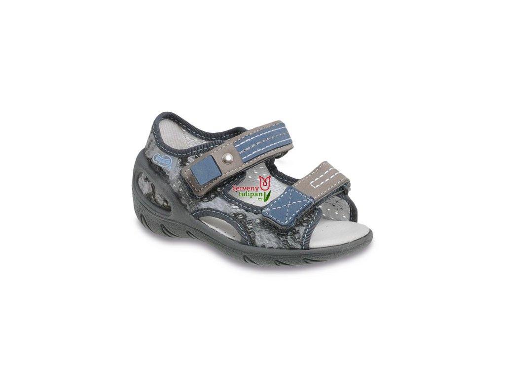 Sandálky Befado 097 s koženou stélkou - Červený Tulipán c1157305a5