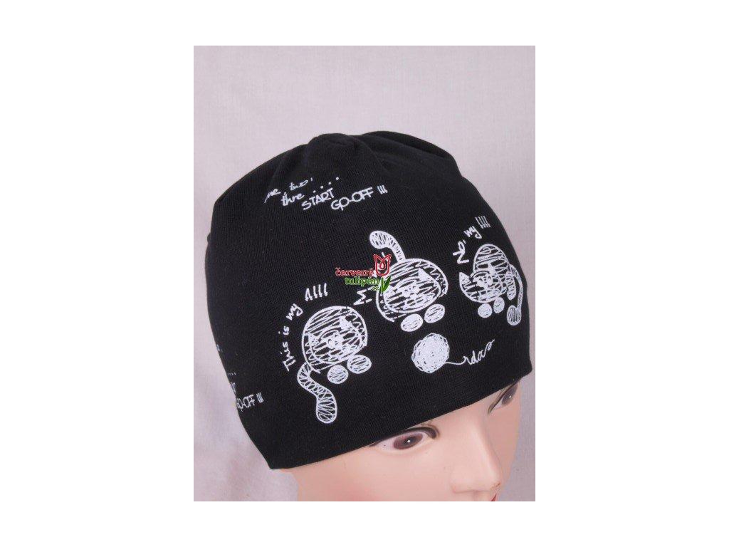 Čepice RDX 1666 černá - kočky