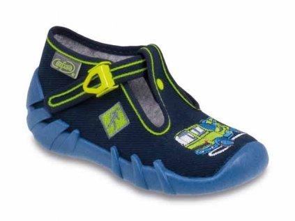 Bačkůrky / papučky Befado 110P170 modré s náklaďákem