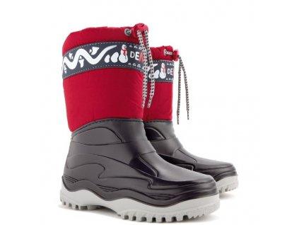 Zimní boty / sněhule Demar Frost B červené mrazuvzdorné