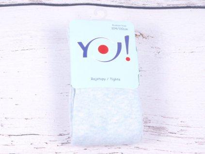 Punčocháčky punčocháče punčošky YO RA33 jednobarevné bleděmodrý melír