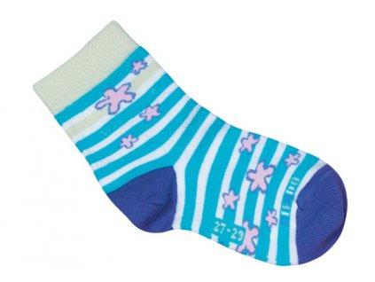 35898 1 001uvw027 33 35 ponozky befado modra vzor 992