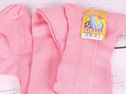 Punčocháče Dotex Lachtan žebrované 100% bavlna růžové vhodné pro alergiky atopiky