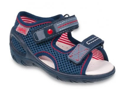 Sandálky Befado Sunny 065P106_065X106 tm. modré