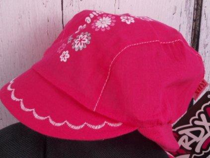 Čepička kšiltovka RDX 7456 tm. růžová lehká s krytím krku