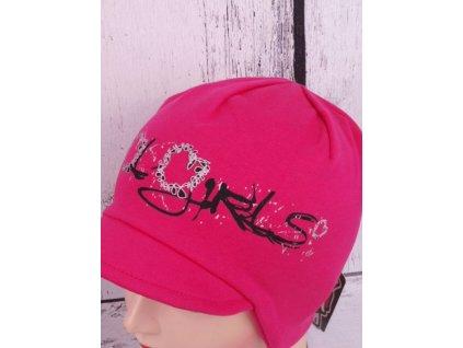 Čepice RDX 2702 tm. růžová s kšiltem