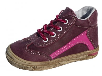 Celoroční kožené botičky obuv JONAP 033M vínové 3211
