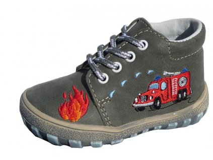Celoroční kožené botičky obuv Jonap 022M hasiči 3132