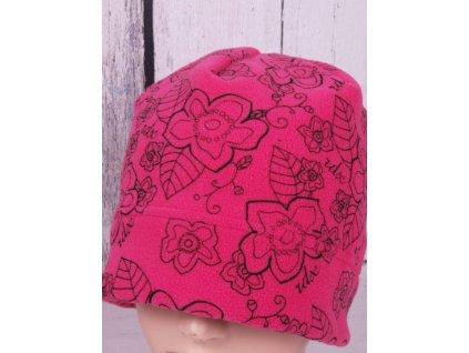 Čepice RDX 3448 zimní flísová růžová