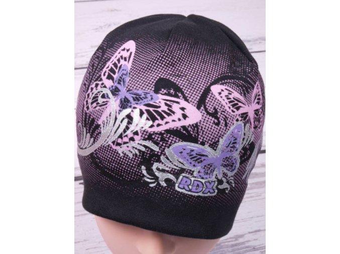 Čepice RDX 2048 černá s motýlky