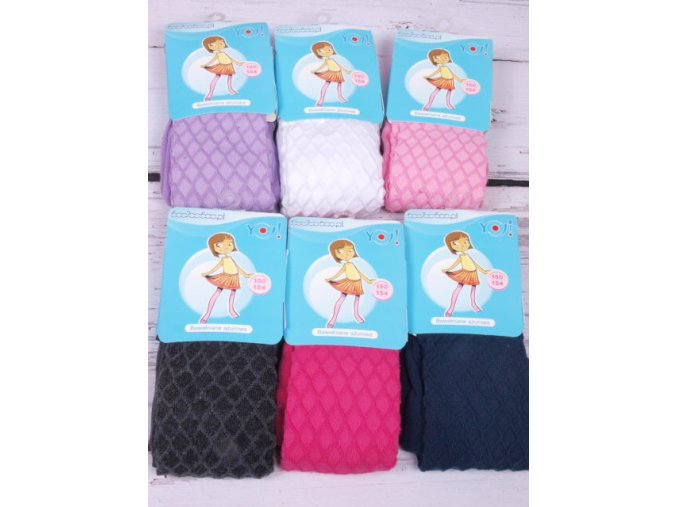 Punčocháčky / punčošky YO1415 jednobarevné růžové