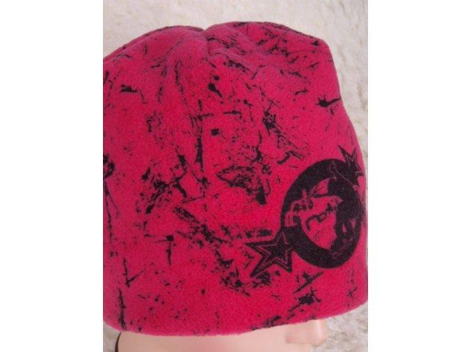 Čepice RDX 3210 zimní flísová tm. růžová