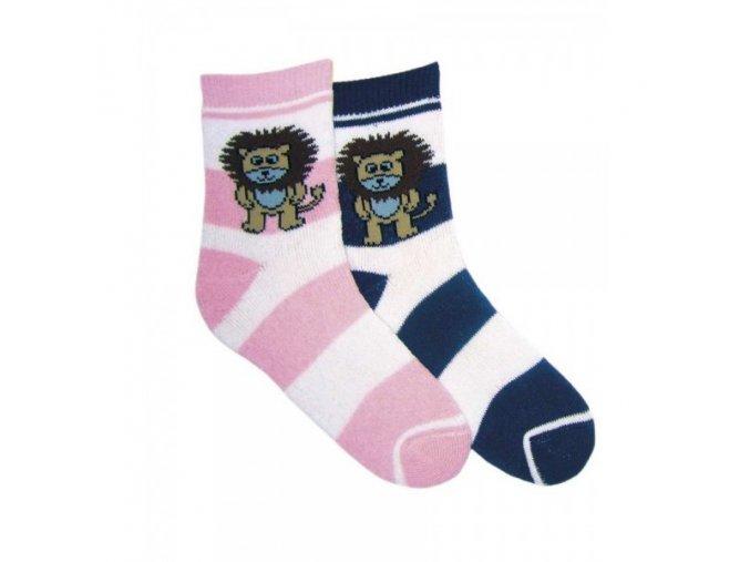 Dětské termo ponožky NOVIA lvíček středně modré 3918