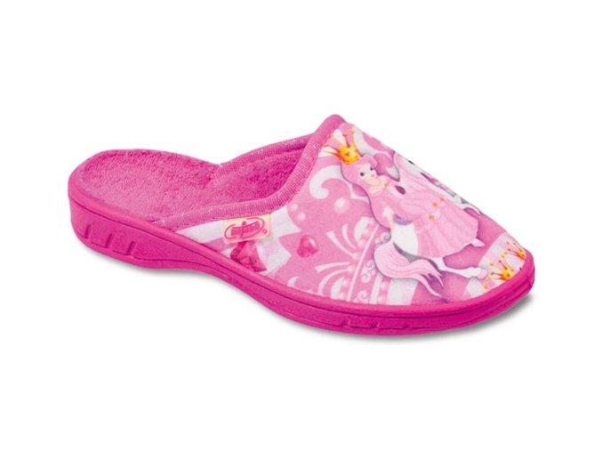 Pantofle papučky bačkůrky Befado 707X289 princezna