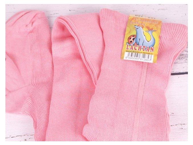 Punčocháče Dotex Lachtan žebrované 100% bavlna 3876 růžové
