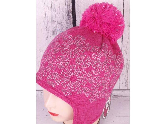 Čepice zimní RDX 3515 růžová s krytím uší