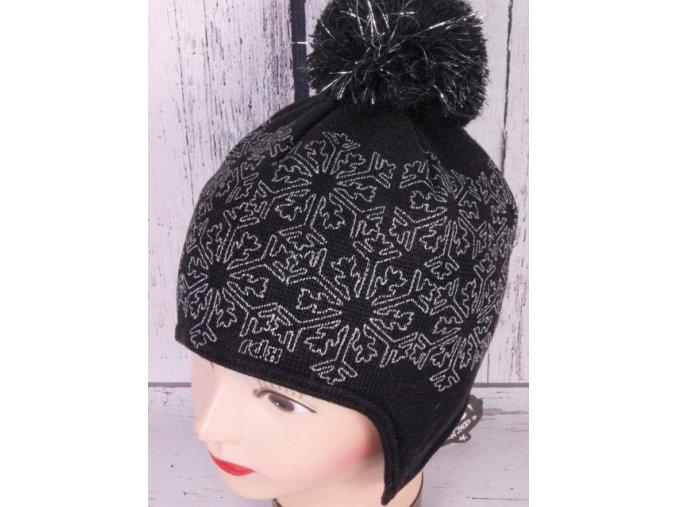 Čepice zimní RDX 3515 černá s krytím uší