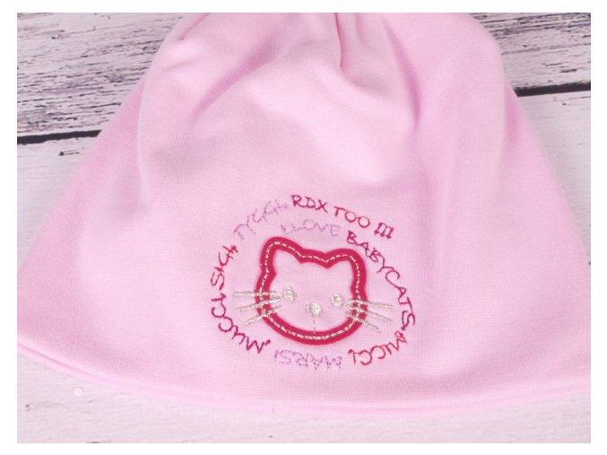 Čepice RDX 2800 dvojitá sv. růžová kočička