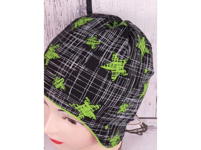Čepice RDX 2708 černá / zelená s krytím uší