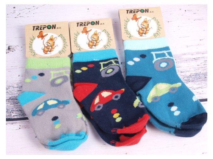 Kvalitní české ponožky TREPON TRAKTOR 3501 mix barev