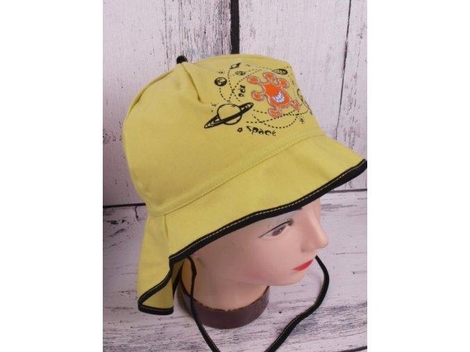 Klobouček klobouk RDX 7428 zelený lehký vázací s krytím krku