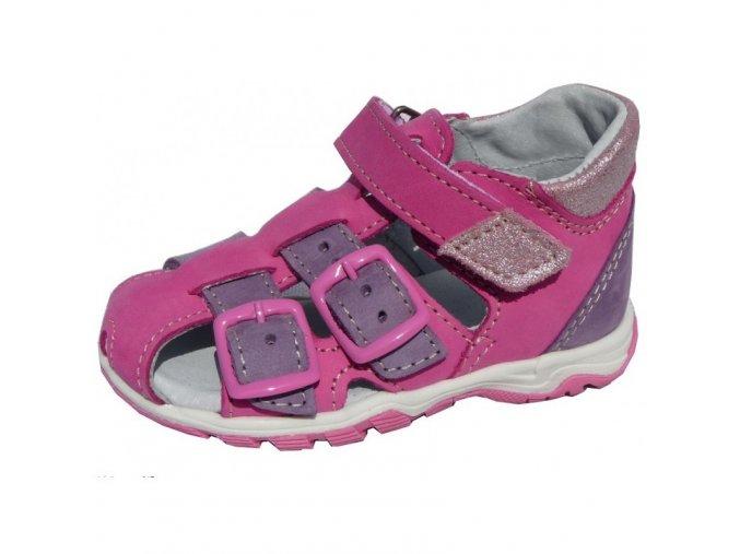 Sandálky JONAP 017M dívčí růžovofialkové 3419