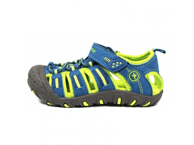 Sportovní sandálky Junior League 3396 modré s krytou špicí sandály