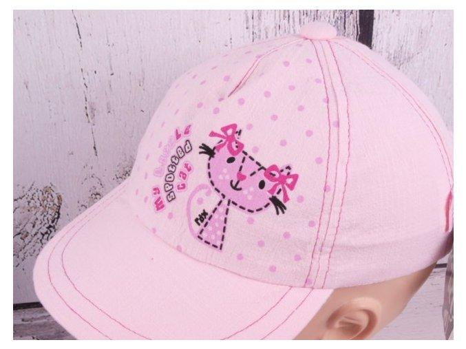 Kšiltovka RDX 7296 sv. růžová kočka