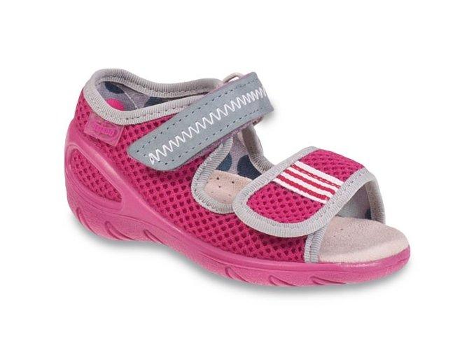 Sandálky Befado Sunny 433P015 433X015 růžové