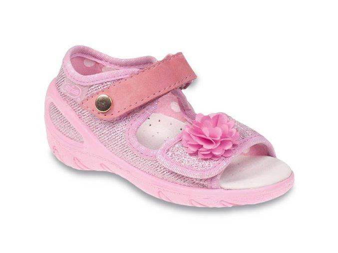 Sandálky Befado Sunny 433P020 433X020 růžové
