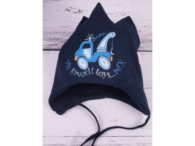 Čepice RDX 1112 tm. modrá, vázací, auto