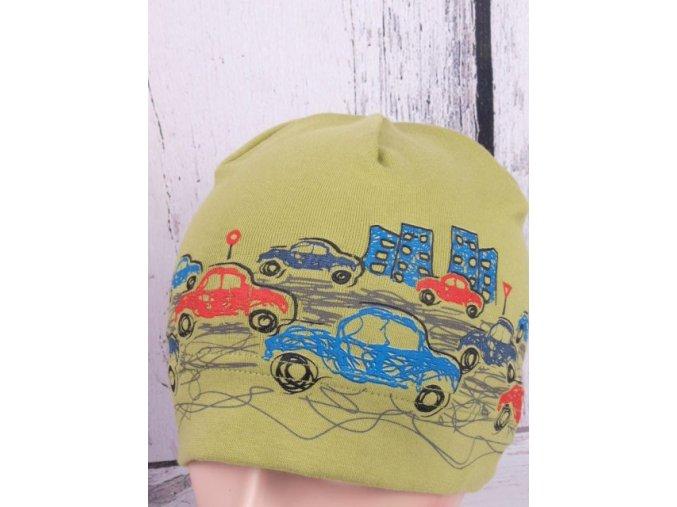 Čepice RDX 2158 zelená s auty