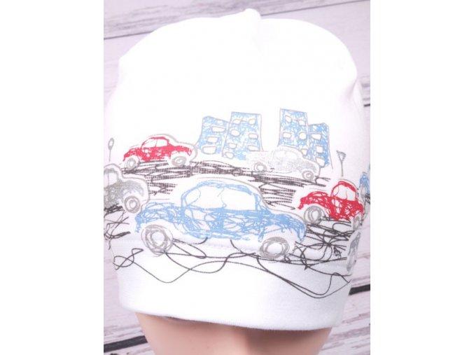 Čepice RDX 2158 bílá s auty