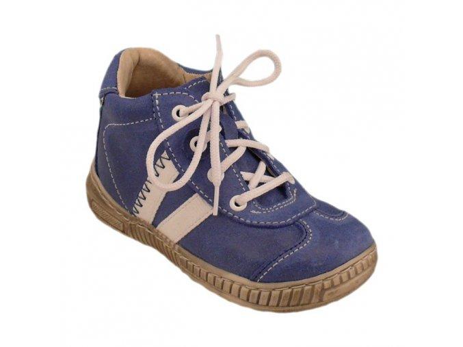 Celoroční kožené boty obuv Pegres modré 3200