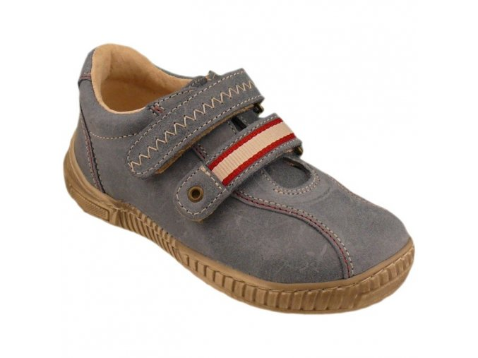 Celoroční kožené boty obuv Pegres modré 3194