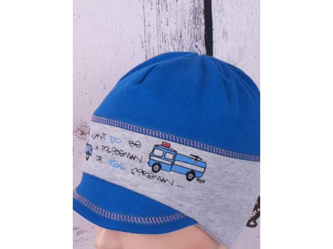 Čepice RDX 2203 královská modrá kšilt / vázání policie / hasiči