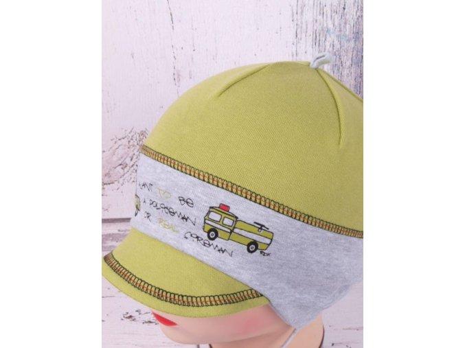 Čepice RDX 2203 zelená kšilt / vázání policie / hasiči