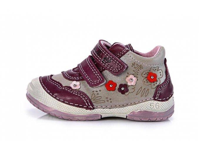 Celoroční kožené botičky obuv D.D.step 038-208 3135