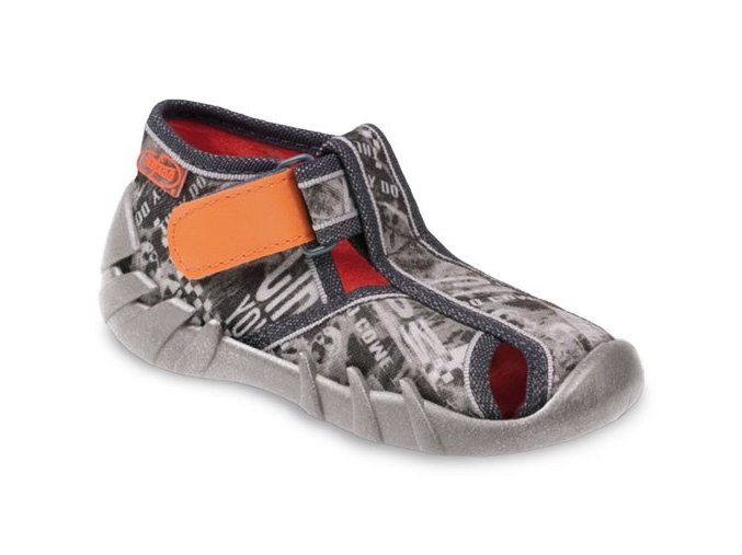 Bačkůrky papučky Befado 484P001 polootevřené