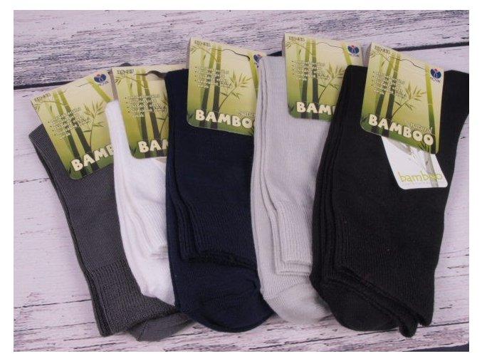 Ponožky NOVIA 1031 bambus ČERNÉ antibakteriální