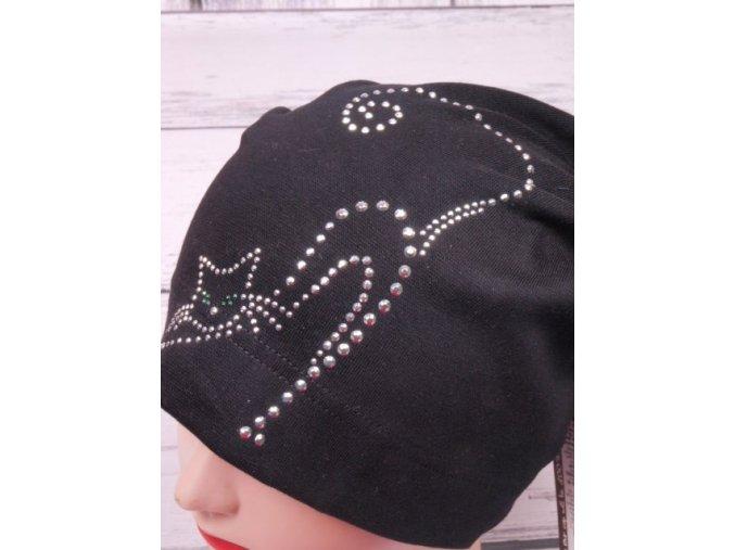 Čepice RDX 2471 převis černá s kočkou