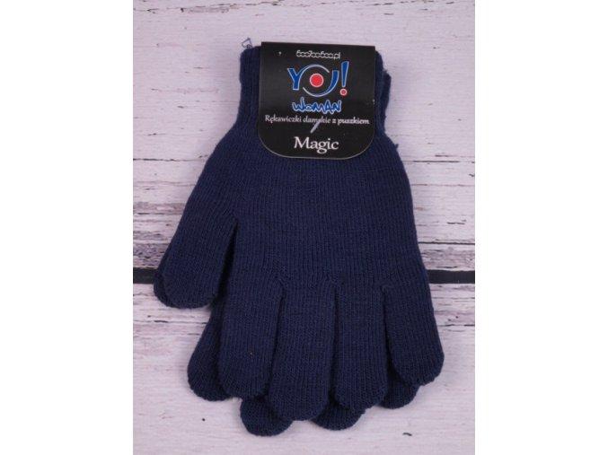 Rukavice YO  Magic tm. modré prstové