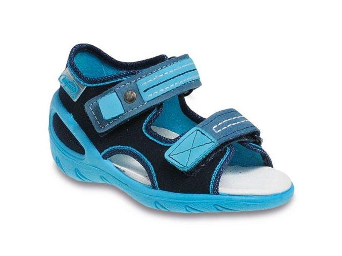 Sandálky Befado 095 s koženou stélkou