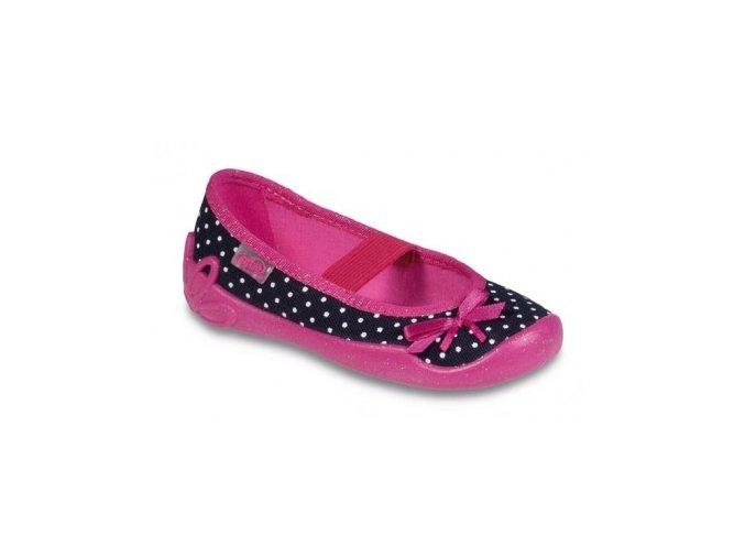 Bačkůrky / papučky / balerínky Befado Blanca 193X031 puntík