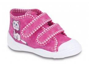 Tenisky / plátěnky / botičky Befado 212P037 růžové s kočkou