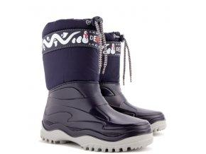 Zimní boty / sněhule Demar Frost A modré mrazuvzdorné 1260