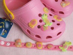 Plážové boty / pantofle / nazouváky 907 Beppi sv.růžové s náramkem