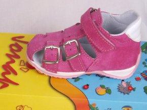 Kožené sandálky Jonap růžové 013S