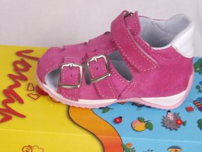 Kožené sandálky Jonap růžové 013S b925b7831c
